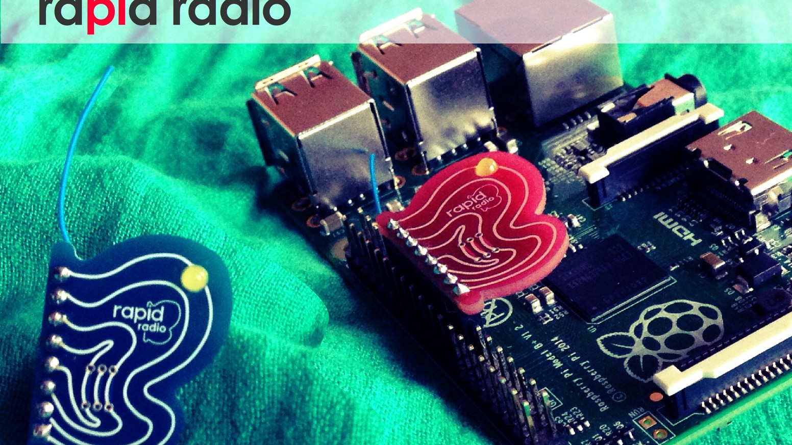 'YES' to beautiful designed electronic components: rapidradio is the cutest RaspberryPi radio ever! 2.4GHz ISM band. Arduino adaptable! Internet of (beautiful) Things! (see below)