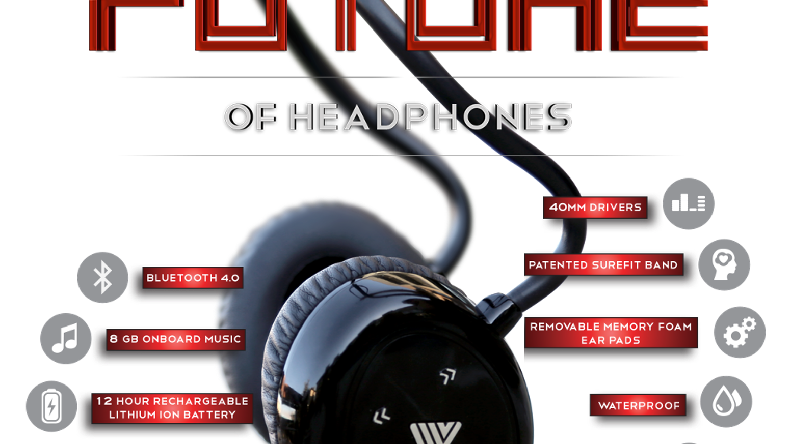The FIRST Premium Over-Ear Wireless Active Headphone!