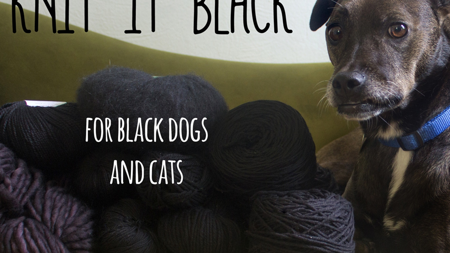Knit It Black is a collection of black knitting patterns, created with the goal of raising awareness and funds for black rescue pets.