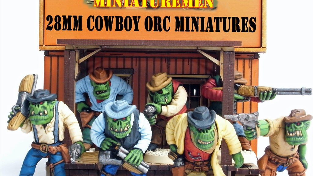 28mm Scale White Metal Wild West Cowboy Orc Miniatures project video thumbnail