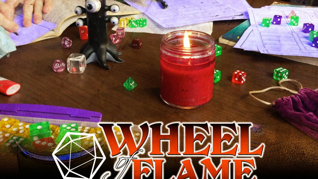 Wheel of Flame Candle Set with Embedded Metal Dice project video thumbnail