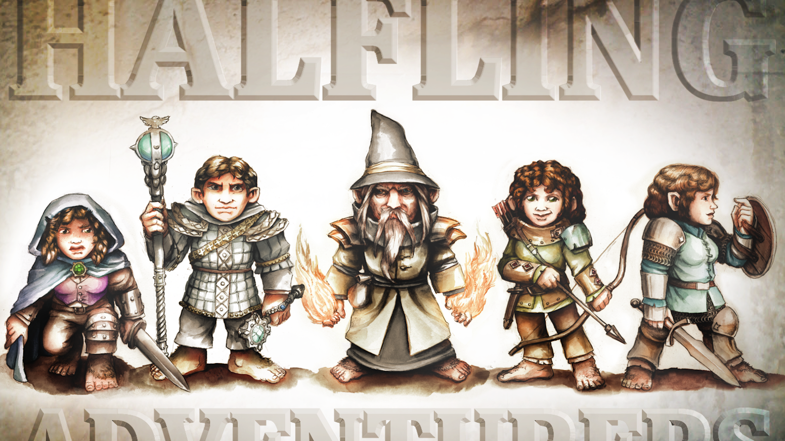 The Halfling Adventurers Project will produce a set of Halfling hero miniatures for dungeon-crawling, RPGs and 28mm tabletop wargames.