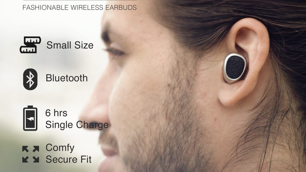 Truebuds - The World's Smallest Stereo Cordless Earbuds project video thumbnail