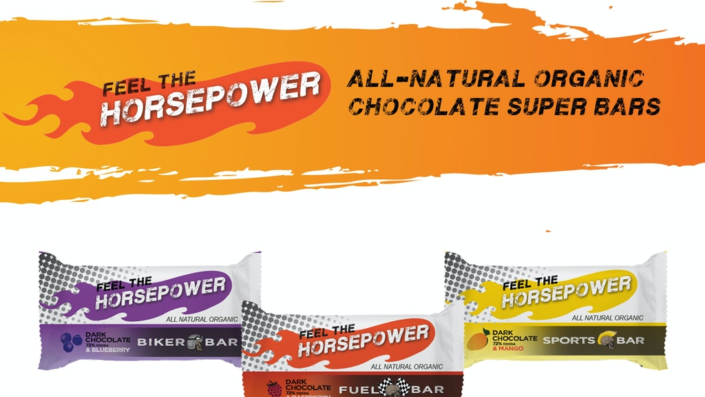 Feel The HORSEPOWER   Chocolate Superfood Bars project video thumbnail