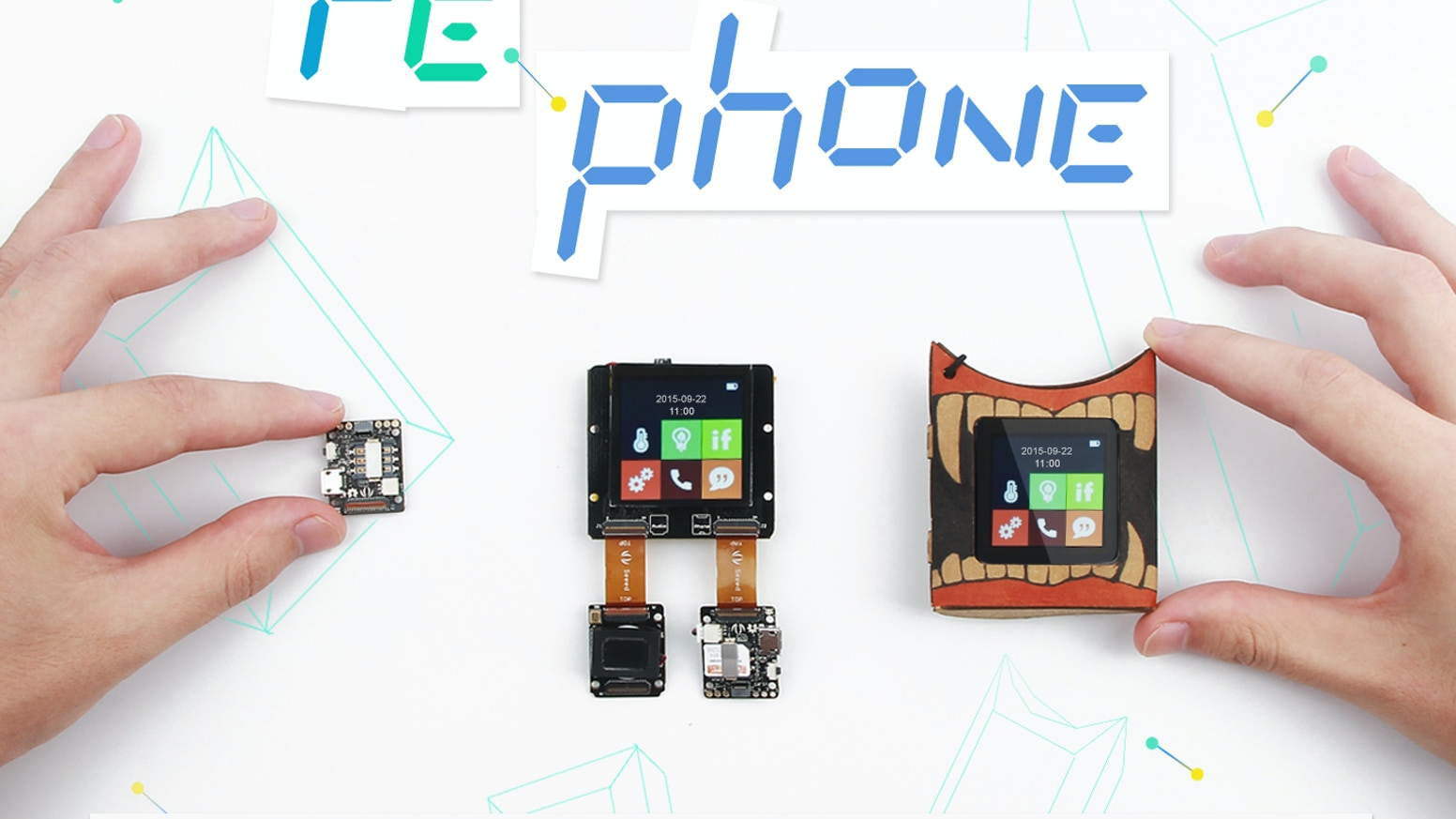 Create a phone yourself in minutes and hack a new way to communicate with things.