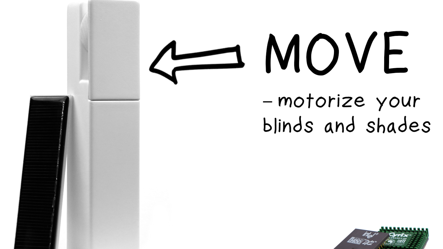 A bluetooth controlled motor for your existing indoor blinds and shades