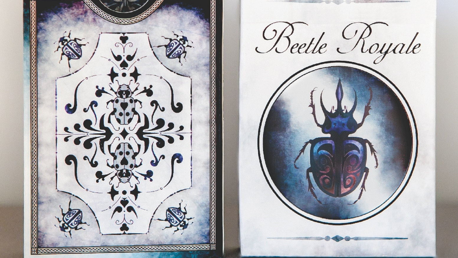 Custom beetle-themed playing cards with a unique animation effect. 2 deck styles. ♠♦♣♥ FREE shipping!