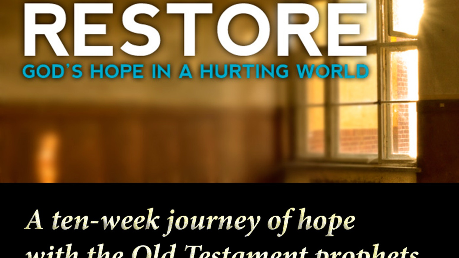 Restore: God's Hope in a Hurting World - Bible Study Book by Timothy
