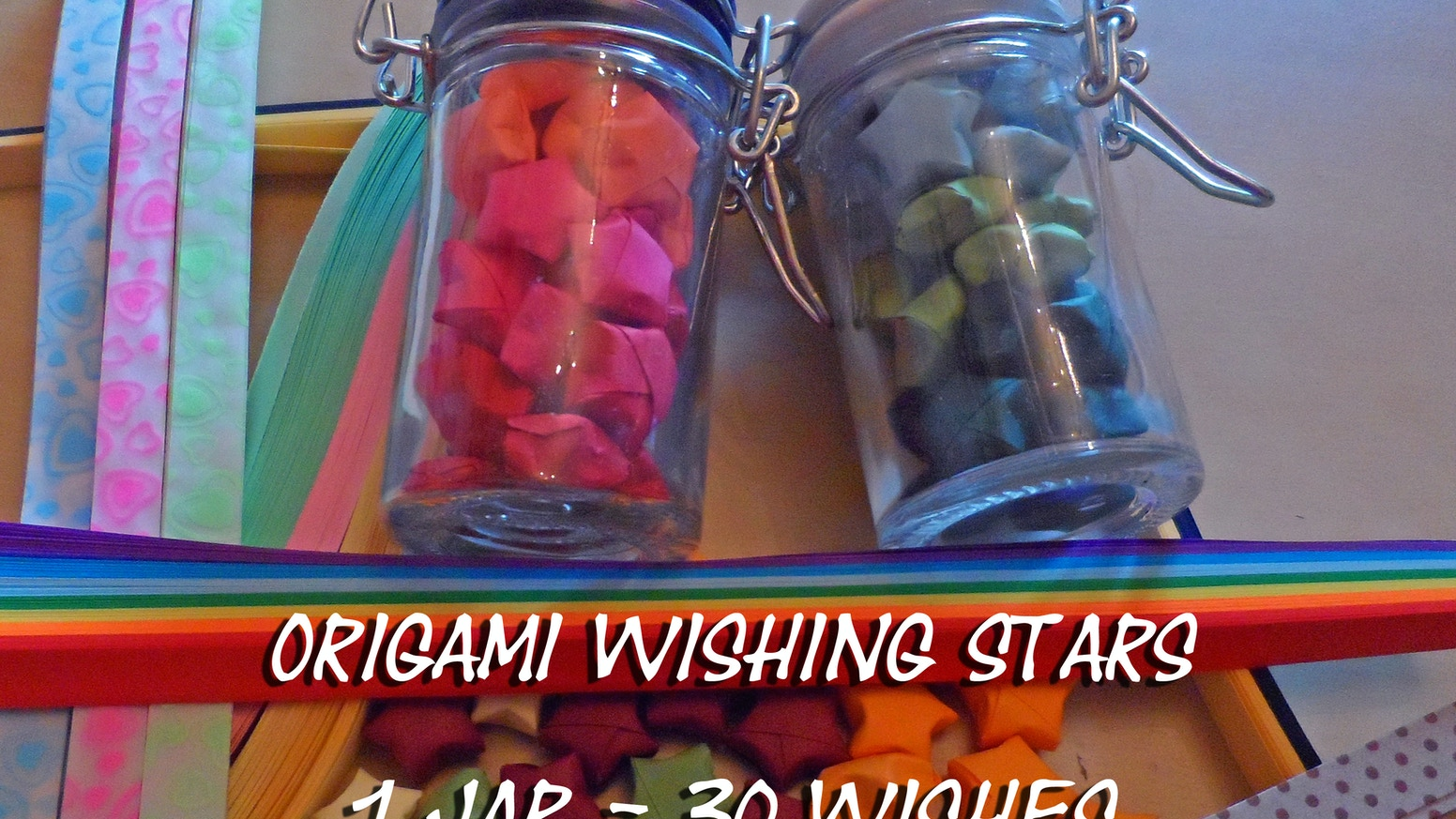 Origami Wishing Star Jars