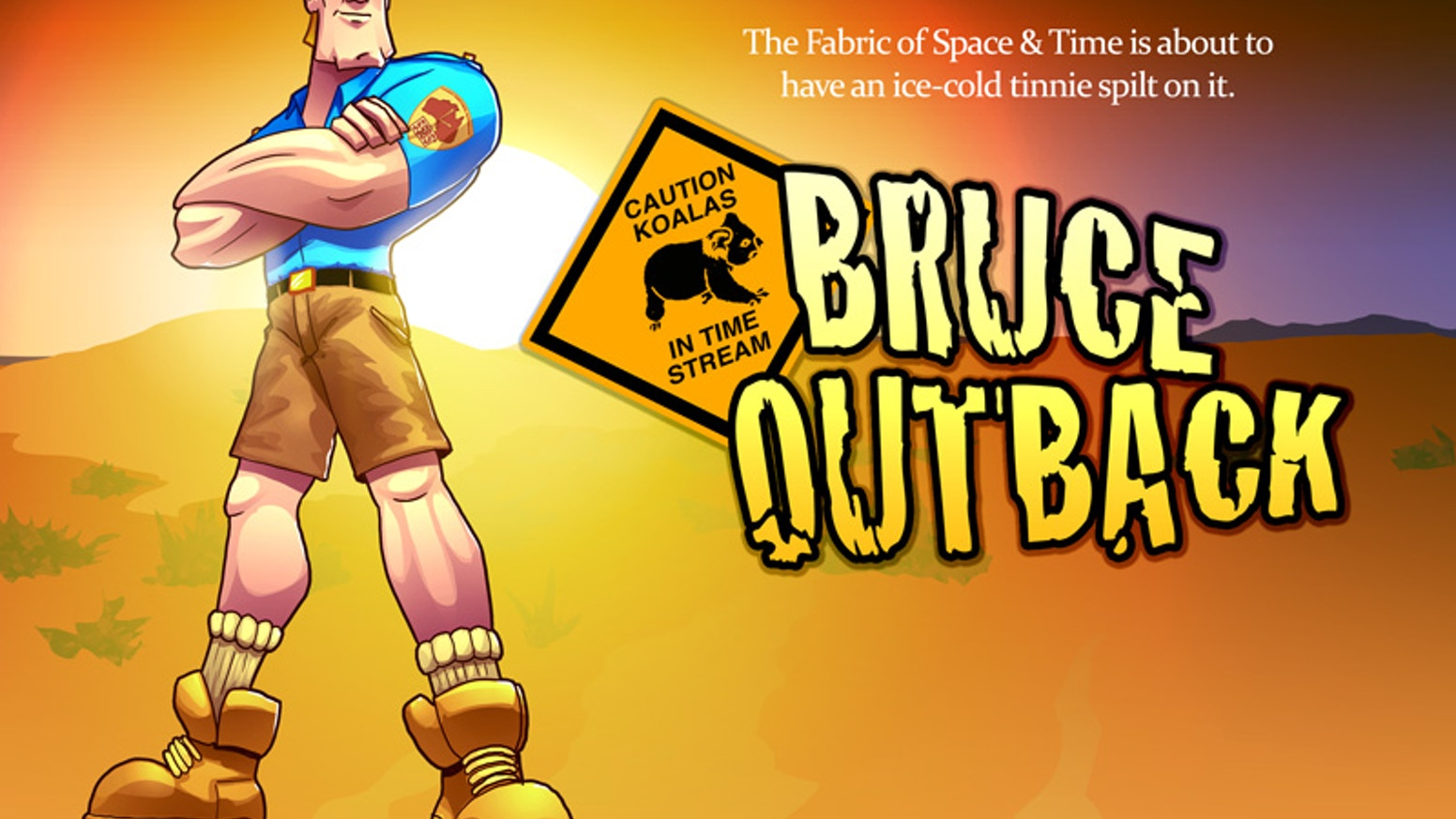 Bruce Outback is Australia's greatest detective, sent back through time with his Koala to help crack previously unsolved crimes!