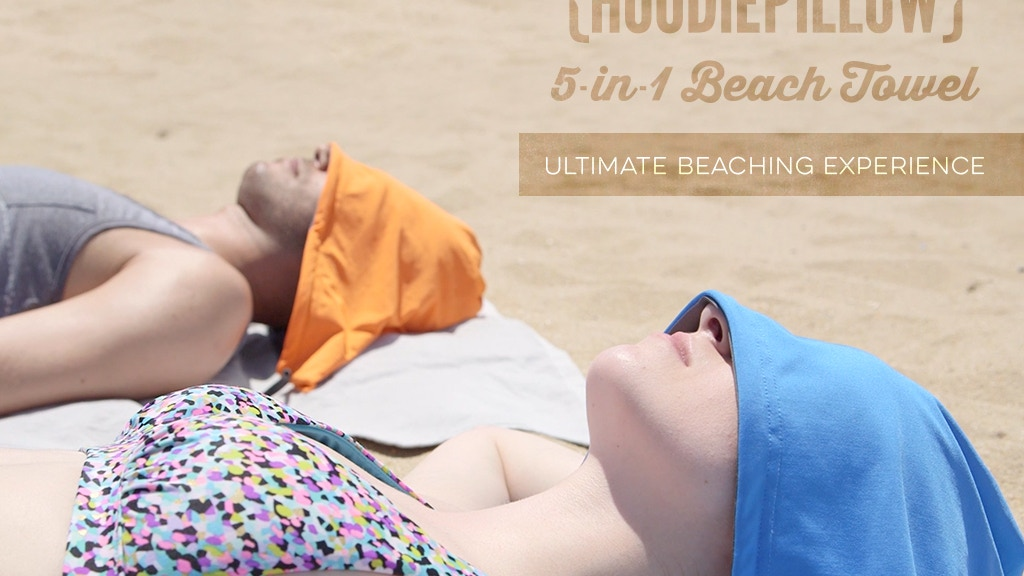 HoodiePillow 5-in-1 Beach Towel: Ultimate Relaxation project video thumbnail