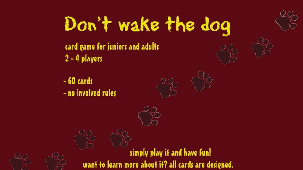 Project image for funny card game for everyone: don't wake the dog