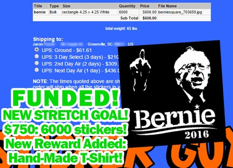 85f685b8cde9 6000 Stickers! Get Bernie s Name Out Into the Real World! by Jaron ...