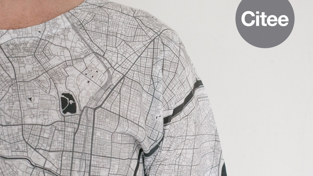 Citee Fashion: City maps printed on t-shirts project video thumbnail