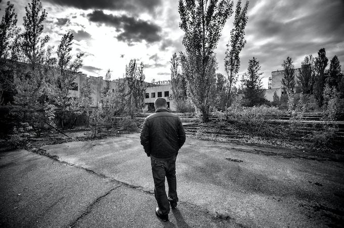 Walking into Pripyat