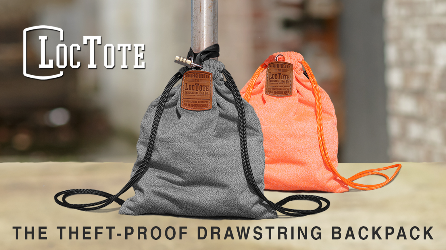 5bce1fc4d92b The Theft-Proof Drawstring Backpack by LOCTOTE INDUSTRIAL BAG CO ...