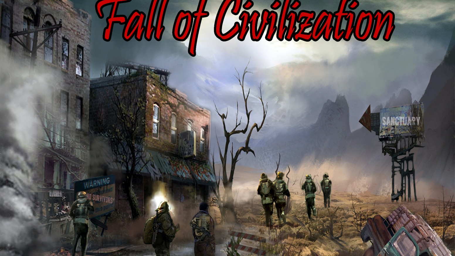 Fall of Civilization is a Turn Based Post Apocalyptic Strategy/Simulator.  Can you survive in the new world or will you fall into dust?