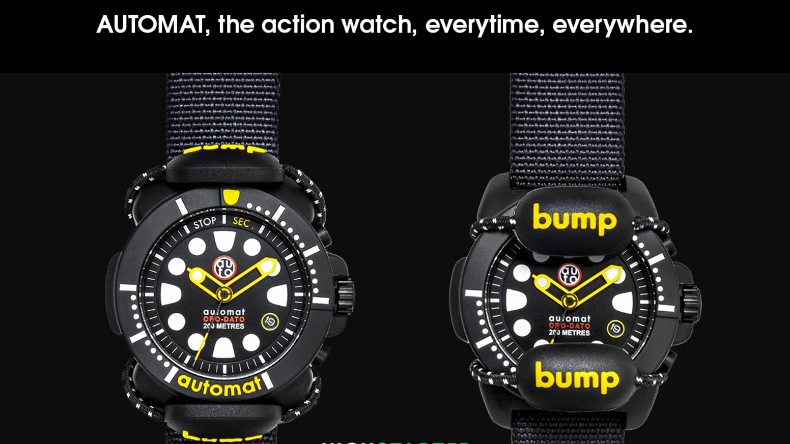 New watches inspired by military diver instruments 20ATM. Patented removable protection for your adventures.