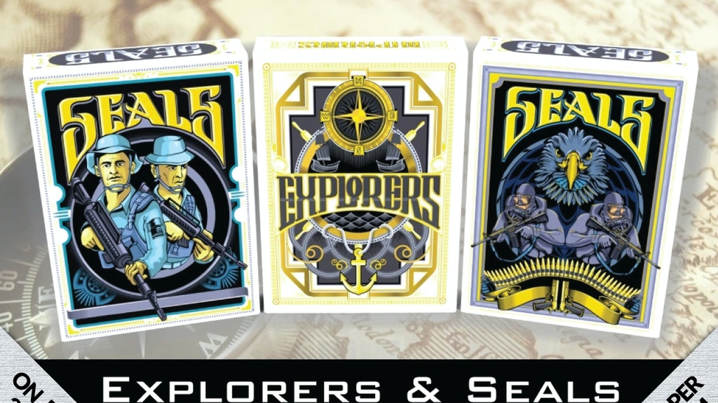 Project image for Explorers & Seals Playing Cards - Printed by Wingo