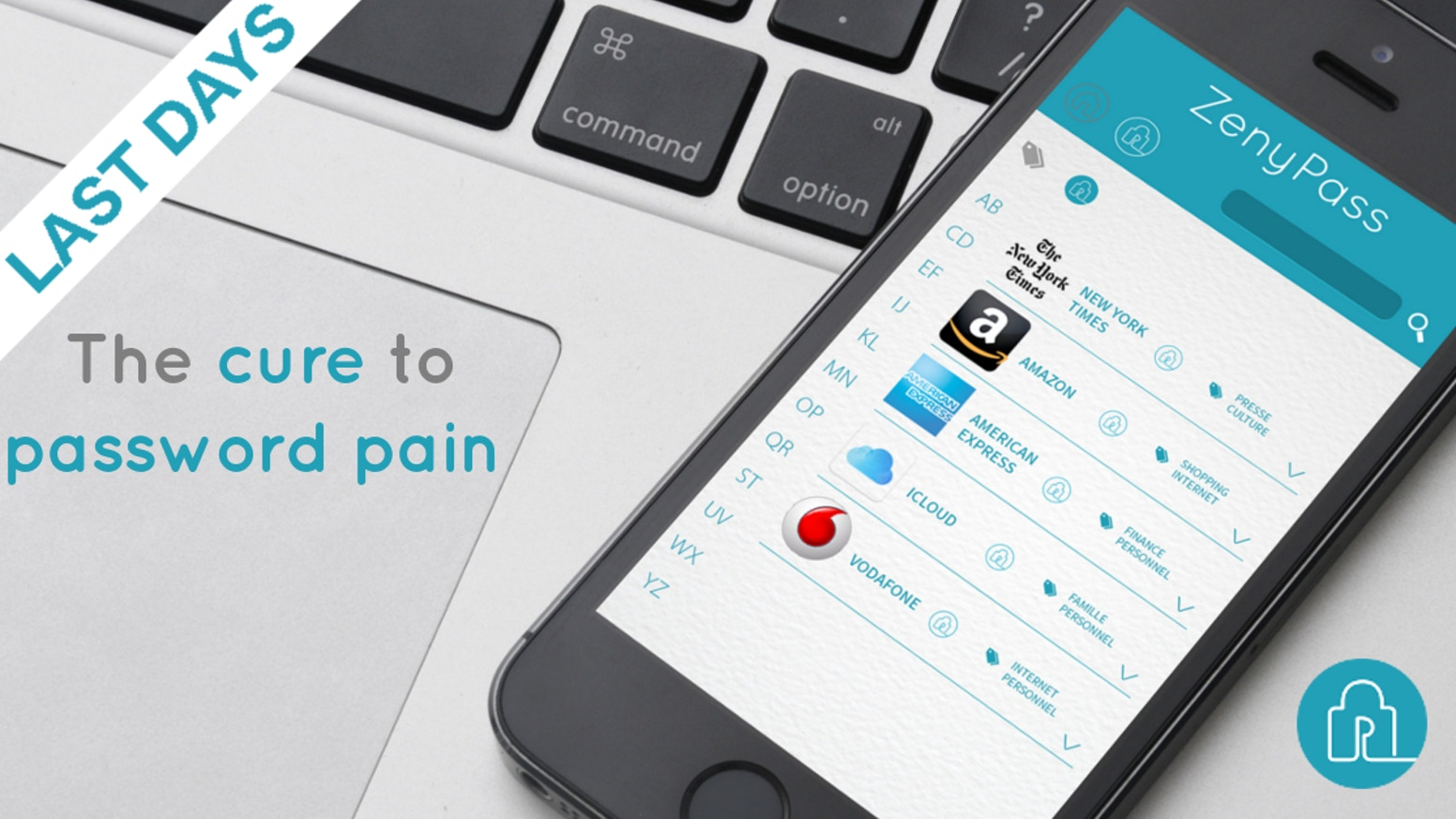 Are you struggling with your passwords? ZenyPass is a web application which allows you to manage your passwords in a simple and secure way, and to connect more easily to all your accounts.