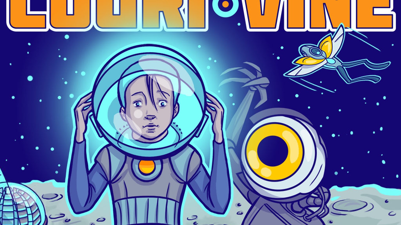 We funded the printing of the first book in our new comic book series, Couri Vine, a sci-fi adventure story on the Moon!