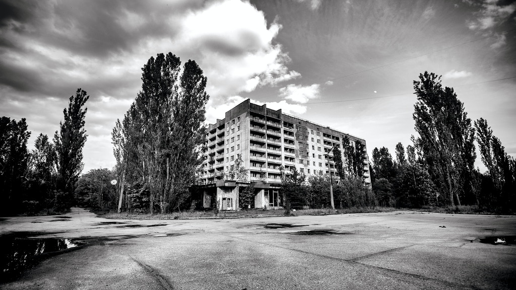 A photo book exploring the abandoned urban areas and buildings of Chernobyl and Pripyat on the 30th anniversary of the disaster.