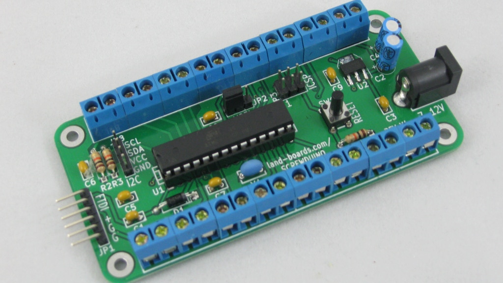 Screwduino arduino compatible w screw terminals mtg