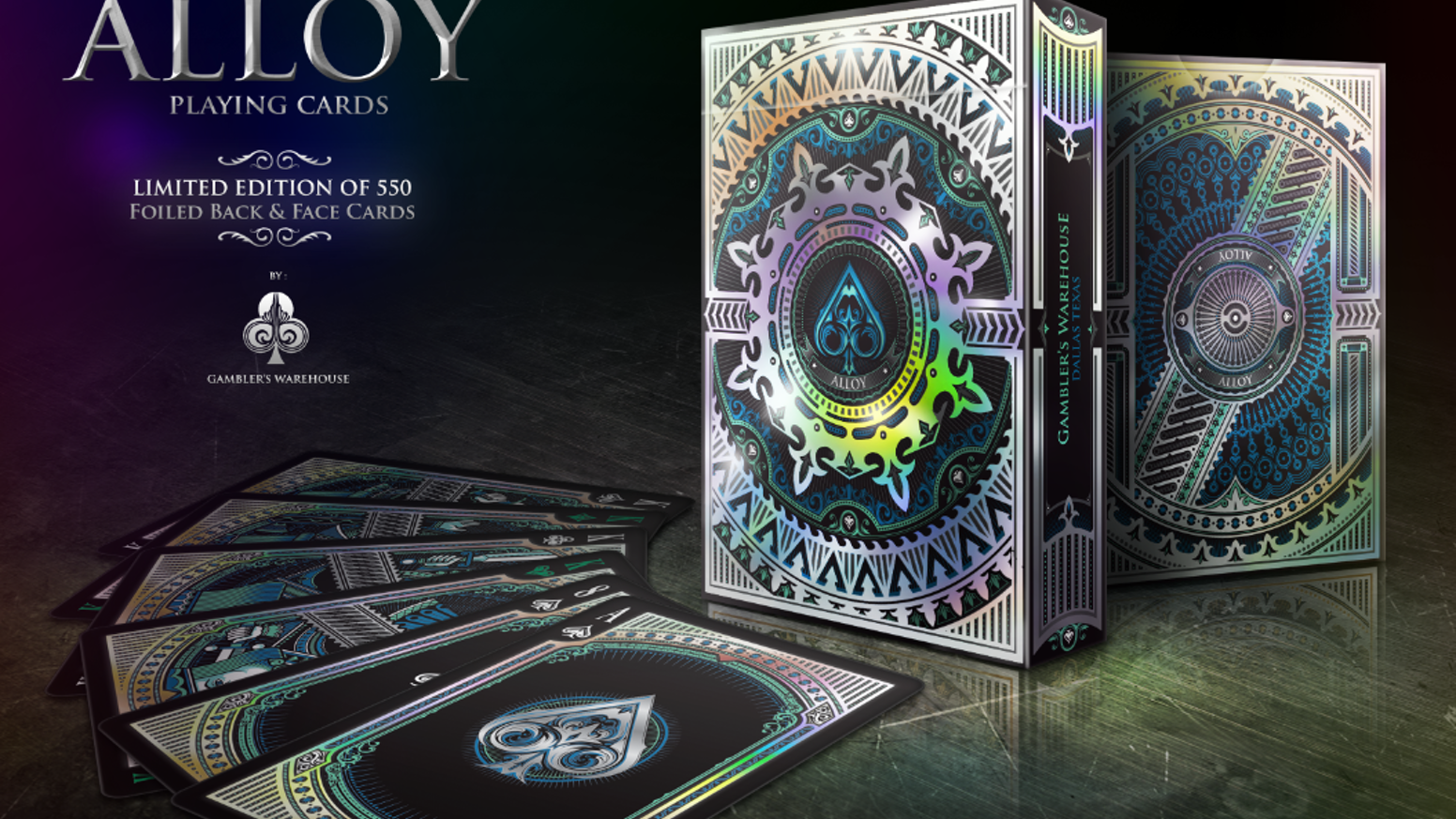 Beautifully designed Iridescent Stock Tuck & Card Backs first time in Custom Playing Cards Industry.
