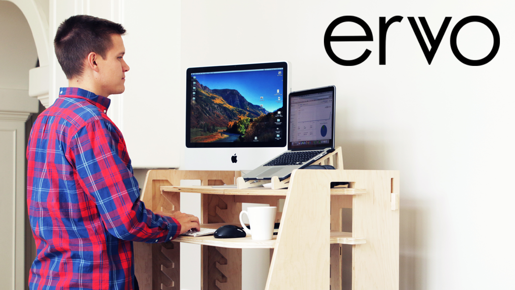 ERVO - A Revolutionary Sit-to-Stand Desk project video thumbnail