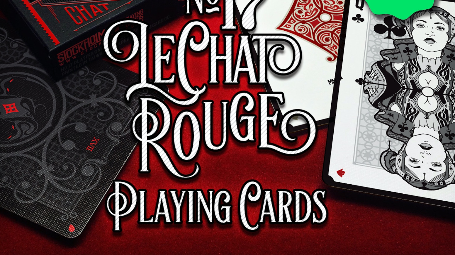 """No.17 """"Le Chat Rouge"""" - Poker Size Playing Cards by"""