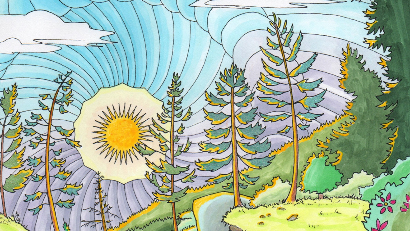 Legendary Landscapes: Adult Coloring Book by Carrie and Witek ...