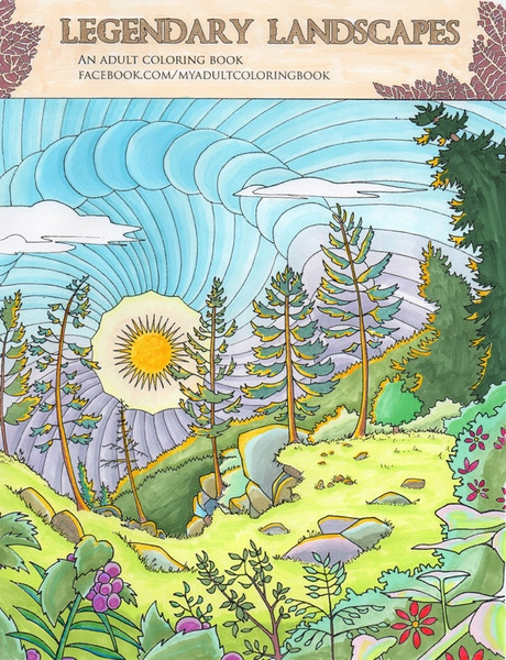 Legendary Landscapes Is An Ambitious New Coloring Book For Adults This Will Feature 85