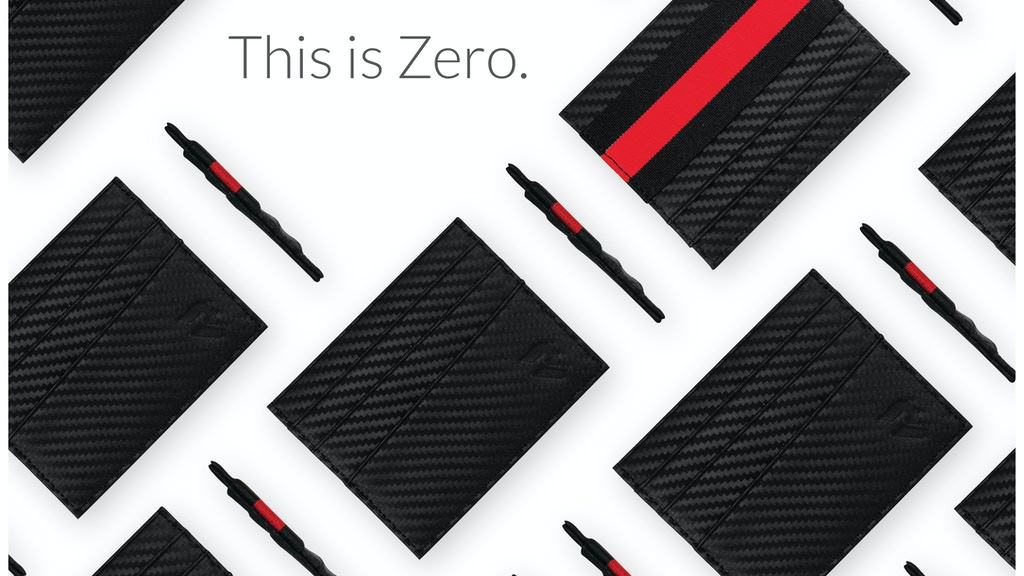 Zero: A Carbon Fiber Inspired Card Wallet w/RFID Security by