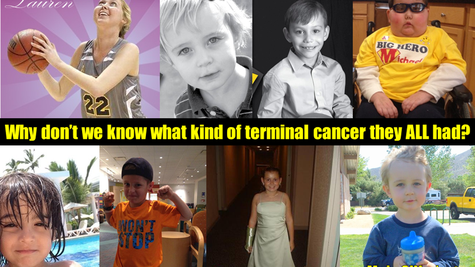 Many high-profile cases of terminal childhood cancer in the news media this year have been DIPG, yet it remains unknown and unspoken.