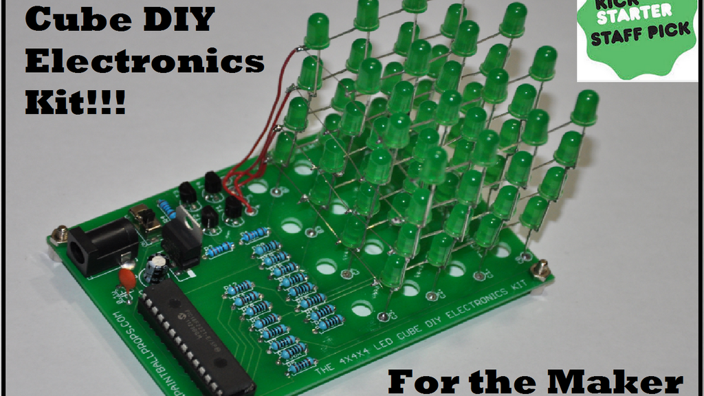 The 4x4x4 led cube diy electronics kit production ready by the 4x4x4 led cube diy electronics kit production ready project video thumbnail solutioingenieria Image collections