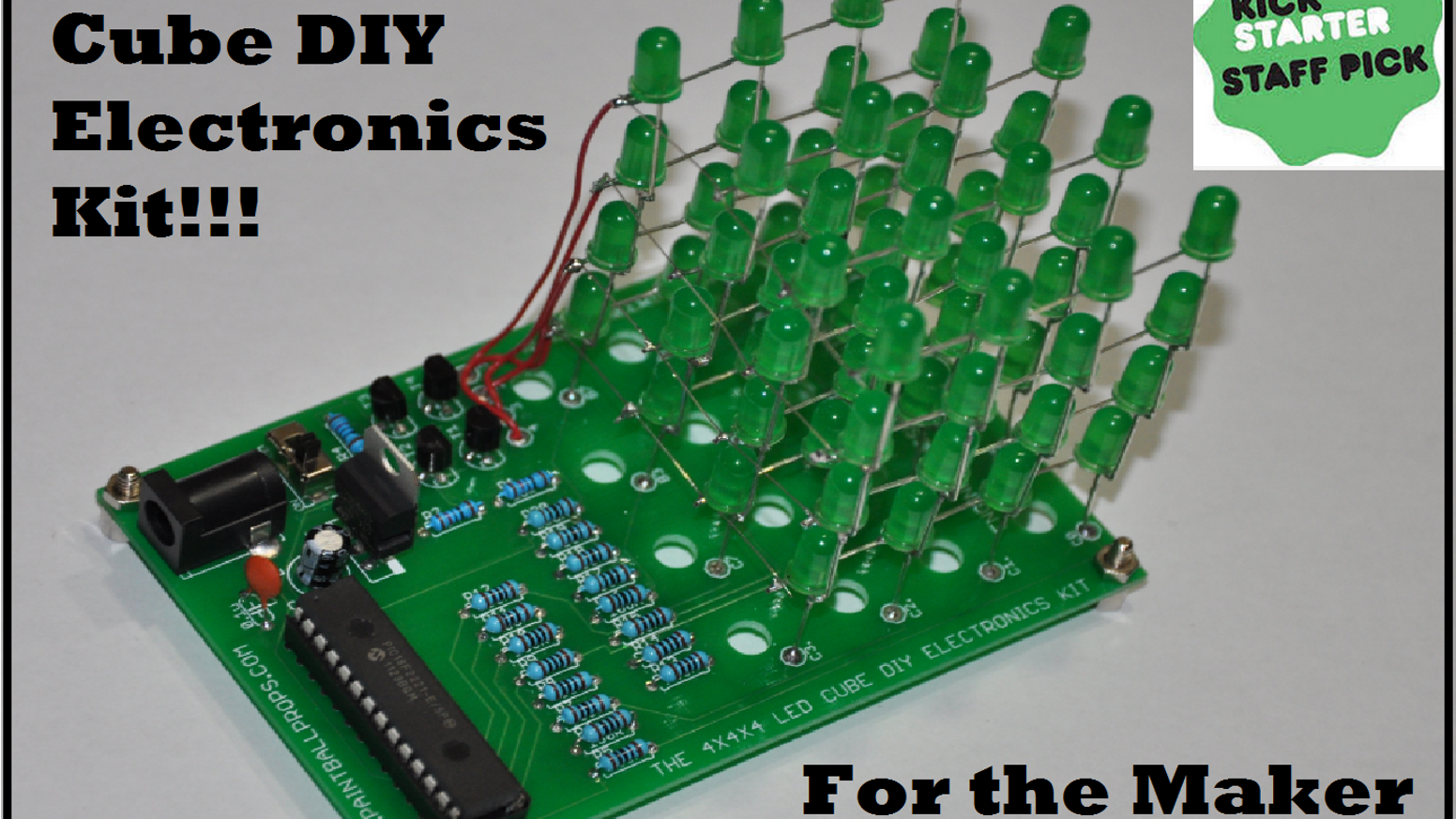 The 4x4x4 Led Cube Diy Electronics Kit Production Ready