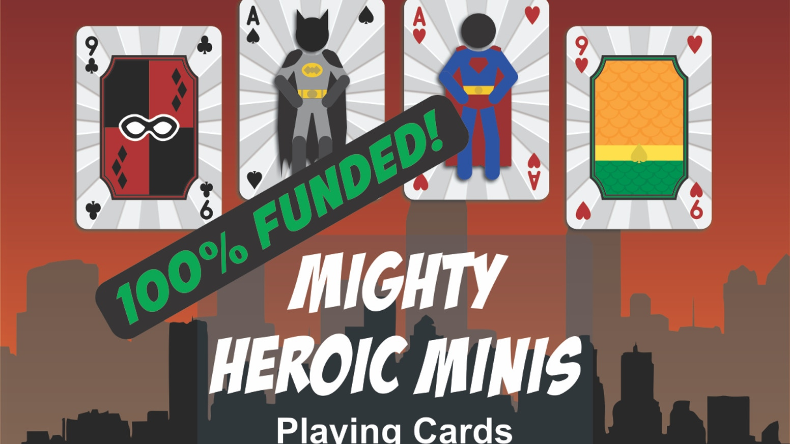 Customized poker deck. Inspired by your favorite heroes. Printed by MPC. Limited production run.