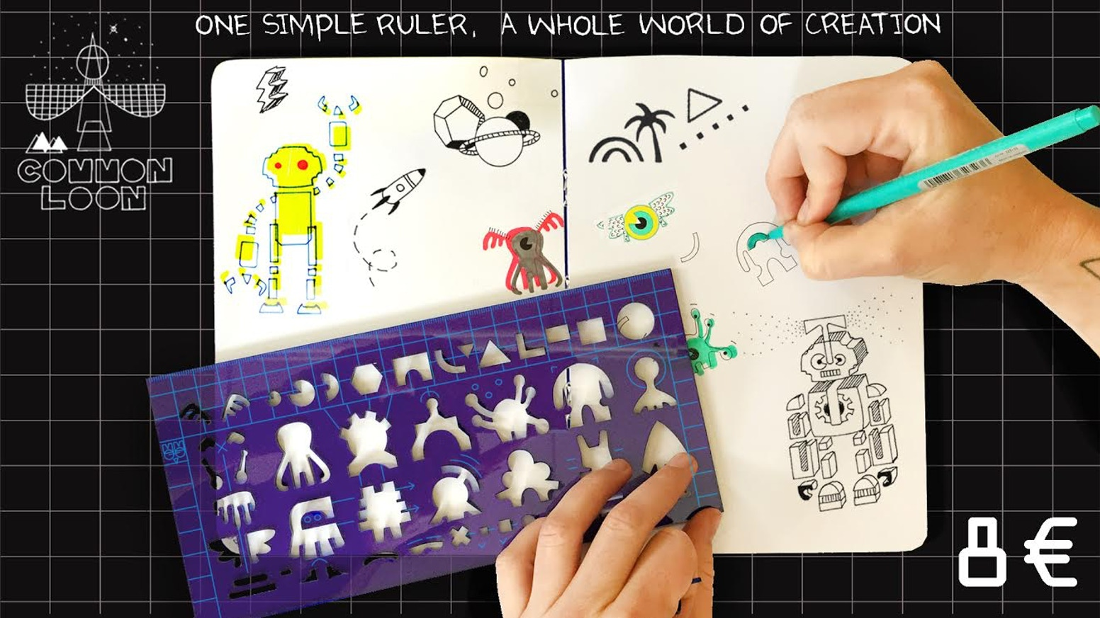 Use your common loon's ruler series to build a fun, imaginary dreamy world of your own.