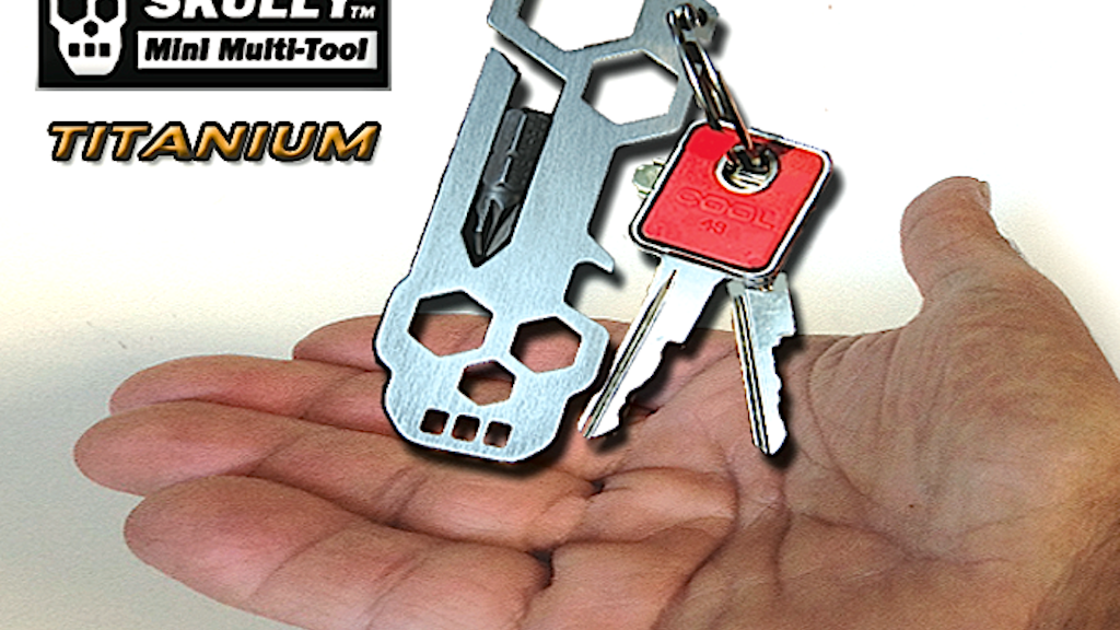 SKULLY Mini Multi-tool TITANIUM 16 in 1, Made in America. project video thumbnail