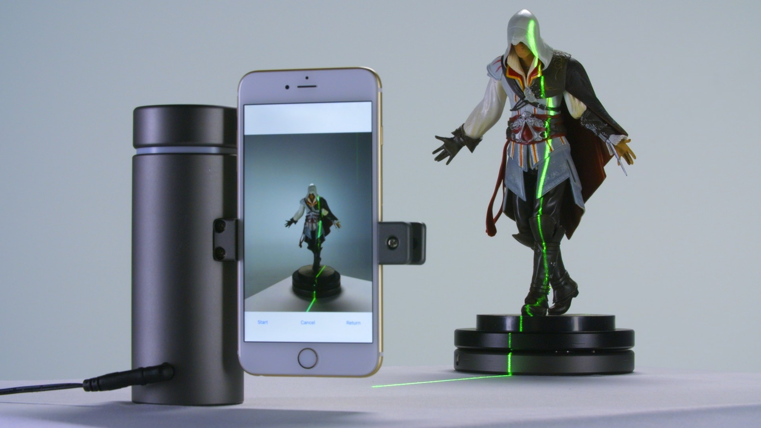 Green lasers are cool, especially when they turn your smartphone into a highly accurate and affordable 3D scanner.