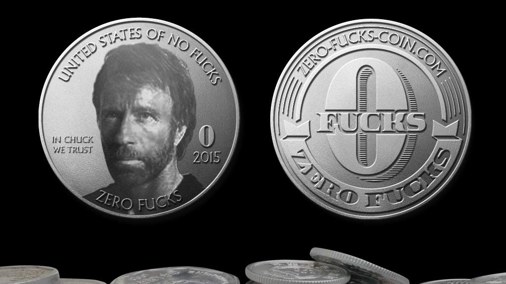 "LITERALLY give Zero Fucks with this awesome ""Token"" of appreciation! Introducing the ""ZERO FUCKS"" Coin! 100% Made in the USA."