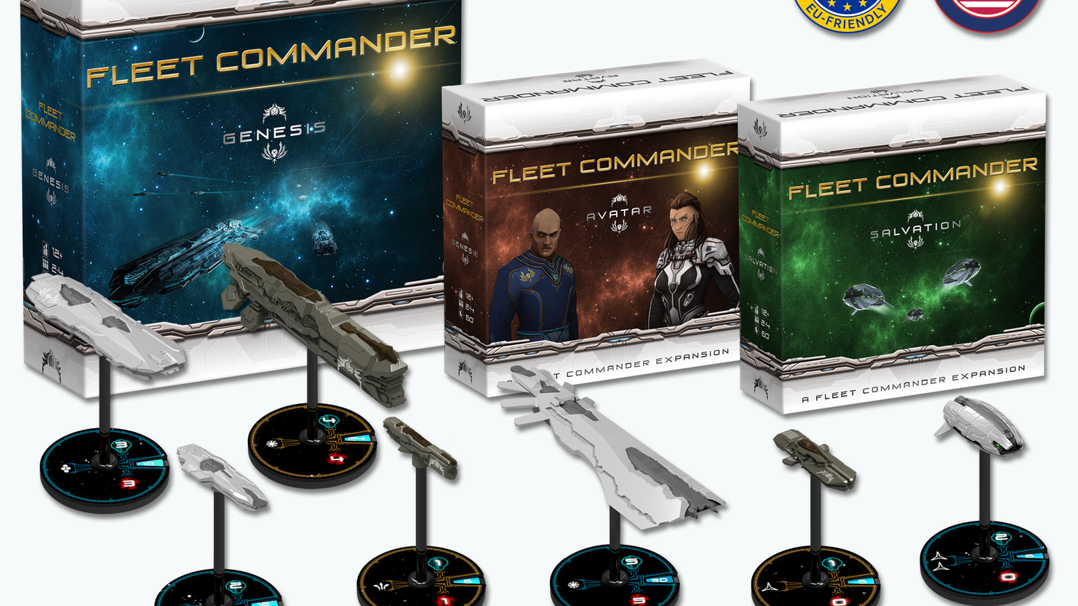 The easy-to-play tactical and epic space battle boardgame for 2 to 4 players including new amazing expansions!
