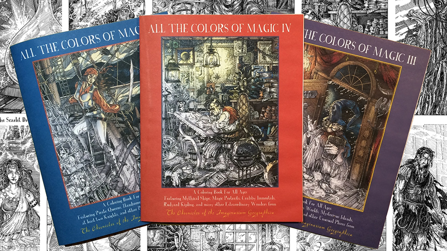 All The Colors Of Magic - A Trio Of Coloring Books by James A. Owen ...