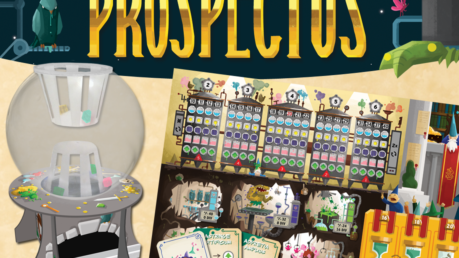 Prospectus By Mr B Games Kickstarter Mrb Crystal Make Up Base Trade Ingredients And Cast Spells In The Underground Potion Market On Your Way To
