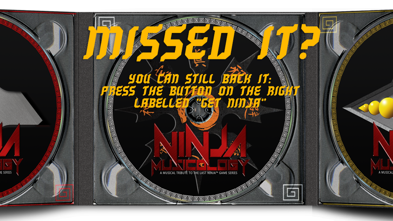 Triple tribute album with rock/metal covers of themes from The Last Ninja™ game series, a live concert and concert Blu-Ray.
