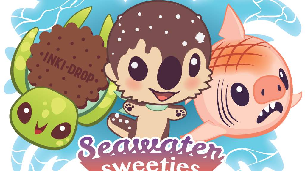 Seawater Sweeties! Cute Sea Otter, Sea Turtle & Shark Plush project video thumbnail