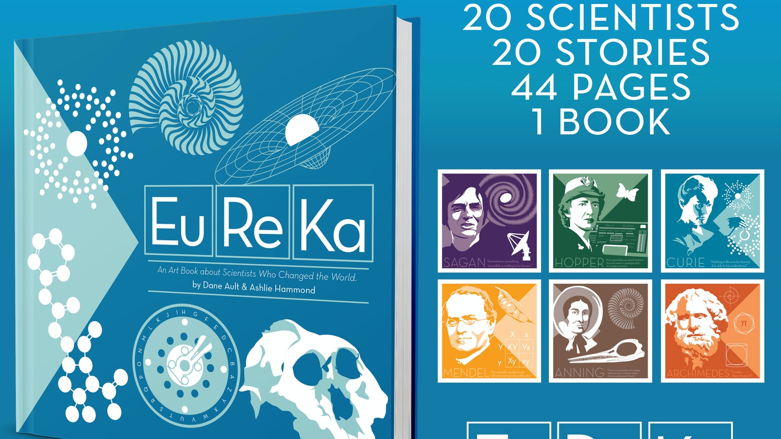 An art book about scientists who changed the world.