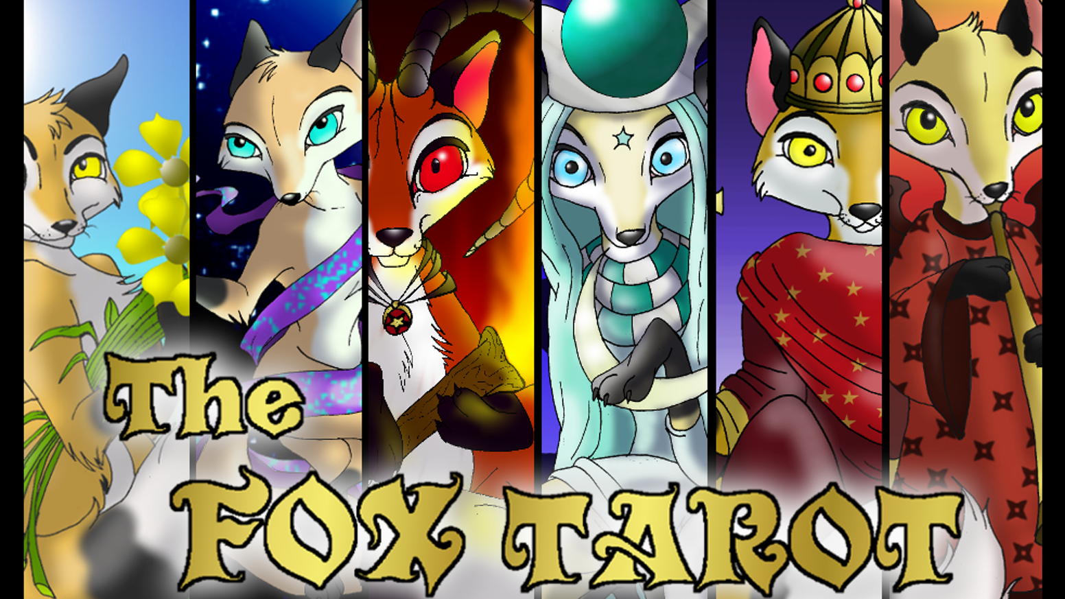 The Fox Tarot is a full tarot deck filled with 78 vividly created fox characters based on the Rider-Waite tarots!