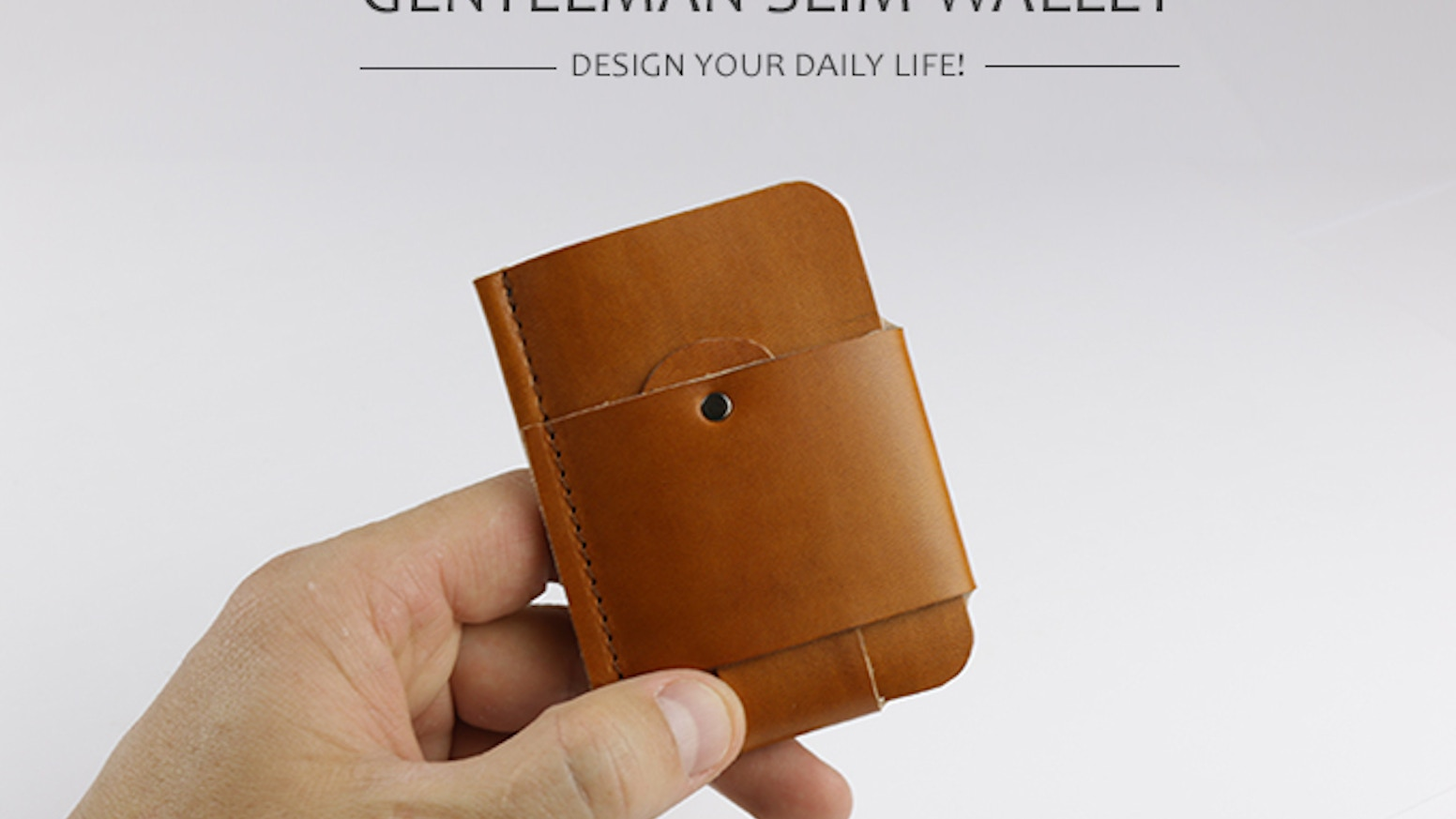 Handmade, minimalist and natural leather wallet for everyone. Designed in different colors. Suitable for credit cards and notes.