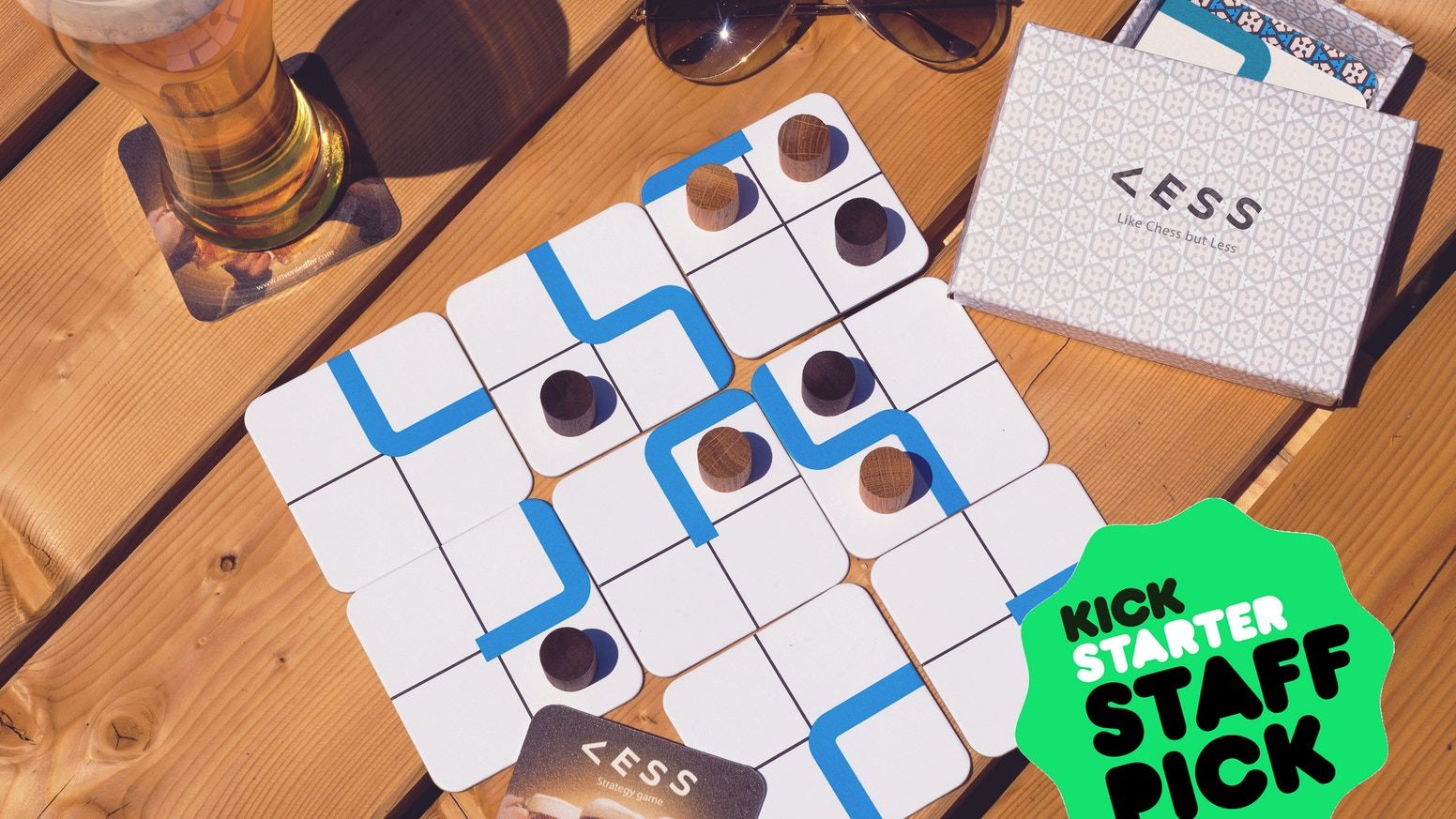 A simple strategy board game for two or four players. It's easy to learn and fun to play.